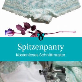 Spitzenpanty Unterhose Unterwäsche für Frauen Dessous kostenloses Schnittmuster Gratis-Nähanleitung