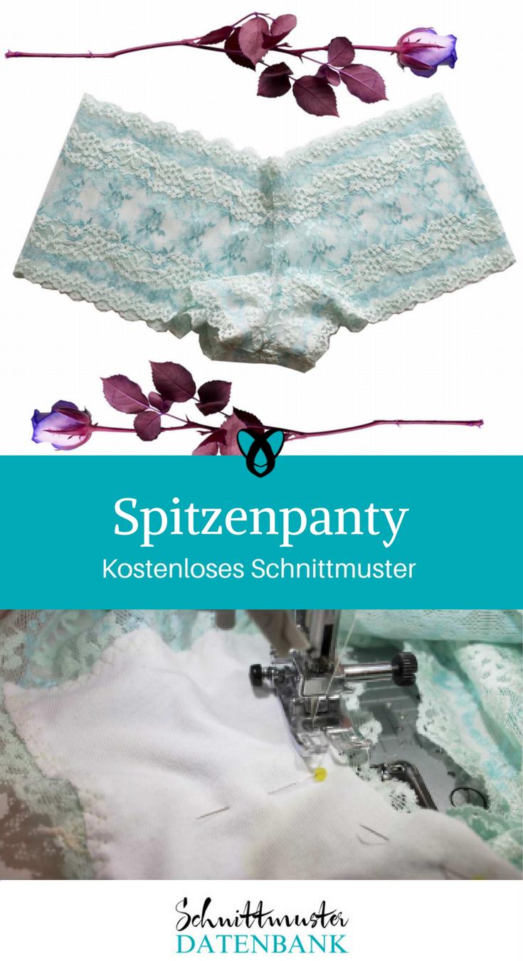 Spitzenpanty – Schnittmuster Datenbank