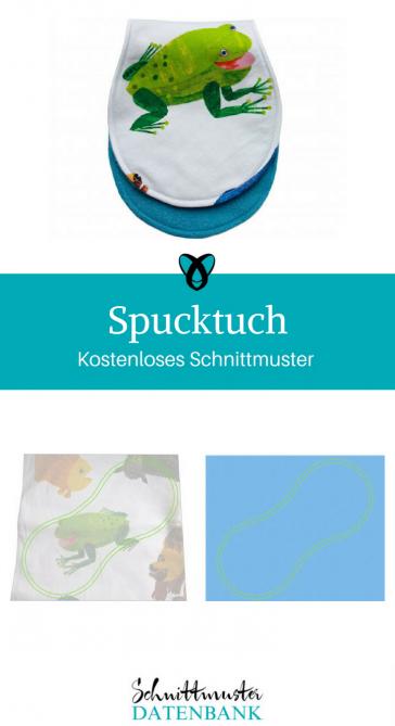Spucktuch Nähideen fürs Stillen Nähideen für Babies kostenlose Schnittmuster Gratis-Nähanleitung