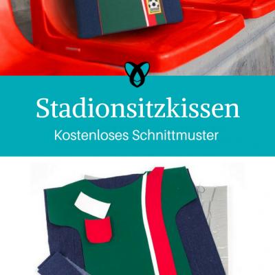 Stadionsitzkissen Zuschauerkissen Nähideen für Fußballfans Kostenlose Schnittmuster Gratis-Nähanleitung