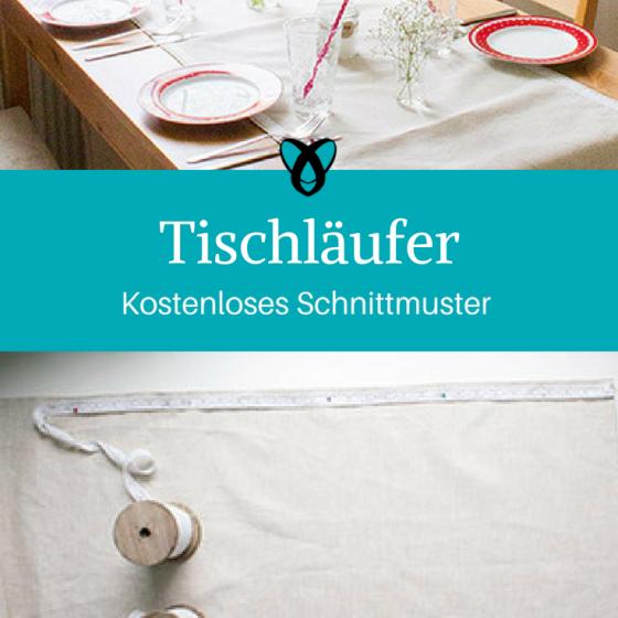 Tischläufer Tischdecke Nähen für Zuhause kostenlose Schnittmuster Gratis-Nähanleitung