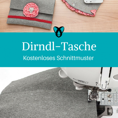 Dirndl-Tasche Trachtentäschchen kleine Tasche kostenloses Schnittmuster Gratis-Nähanleitung