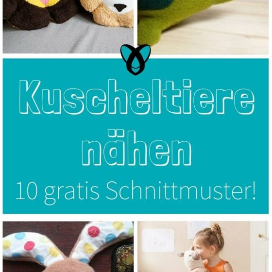 Gratis Schnittmuster Kuscheltiere naehen kostenlos Freebies für Kinder Babys Geschenk Geschenkidee Nähidee zur Geburt