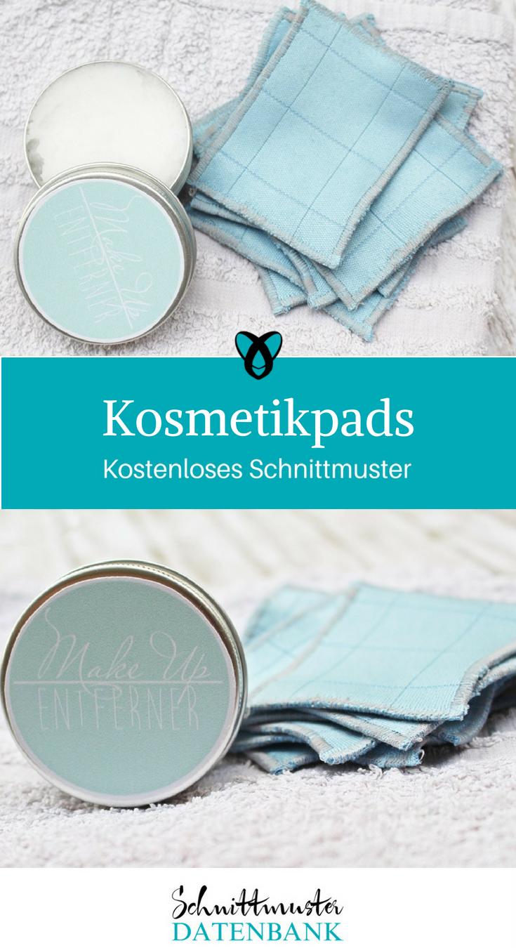 Kosmetikpads Nachhaltigkeit Nähideen für Frauen kostenlose Schnittmuster Gratis-Nähanleitung