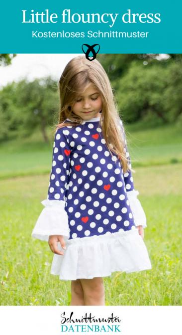 Little flouncy dress Mädchenkleid Baumwollkleid Nähen für Mädchen Nähen mit Baumwolle kostenlose Schnittmuster Gratis-Nähanleitung