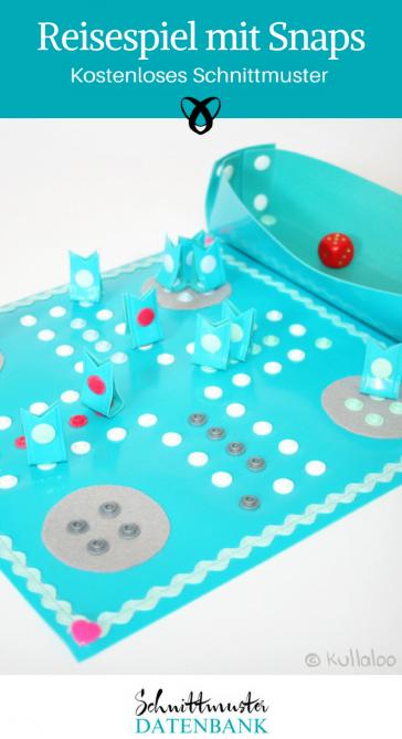 Reisespiel mit Snaps Spielzeug Nähideen für Kinder kostenlose Schnittmuster Gratis-Nähanleitung
