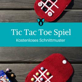 Reisespiel Tic Tac Toe 3 gewinnt Nähideen für Kinder kostenlose Schnittmuster Gratis-Nähanleitung