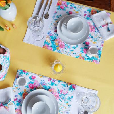 Tischsets Nähideen für den gedeckten Tisch Nähen für Zuhause Dekoration kostenlose Schnittmuster Gratis-Nähanleitung