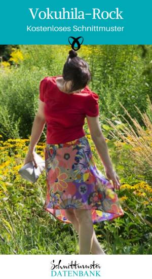Vokuhila-Rock Sommerrock Nähen für Frauen Kleidung selber machen kostenlose Schnittmuster Gratis-Nähanleitung