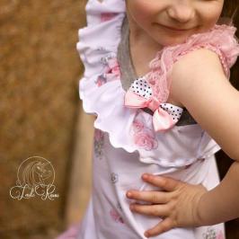 Kindertop Hailey asymmetrisches Oberteil für Kinder Nähen mit Rüschen Kinderkleidung kostenlose Schnittmuster Gratis-Nähanleitung
