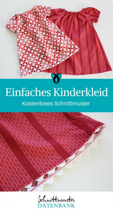 Kinderkleid Babykleid Nähen mit Baumwollstoff kostenlose Schnittmuster Gratis-Nähanleitung
