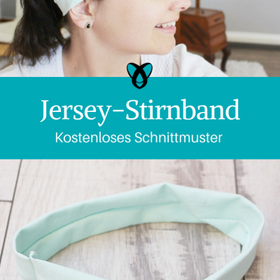 Jersey-Stirnband schnelle Nähprojekte Nähen mit Jerseyresten kostenlose Schnittmuster Gratis-Nähanleitung