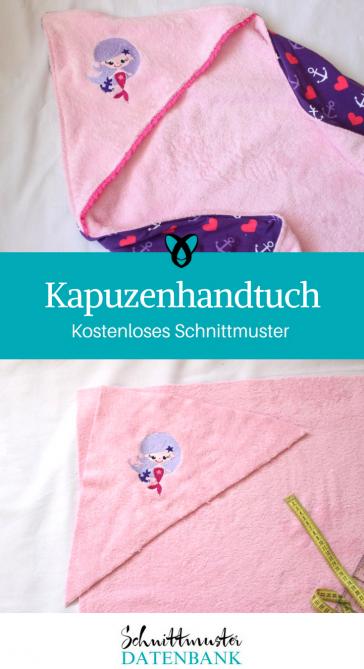 Kapuzenhandtuch Nähideen für Babies Geschenke zur Geburt kostenlose Schnittmuster Gratis-Nähanleitung