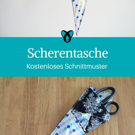 Scherentasche Scherengarage Nähideen für Nähbegeisterte Praktische Nähutensilien Geschenkideen kostenlose Schnittmuster Gratis-Nähanleitung