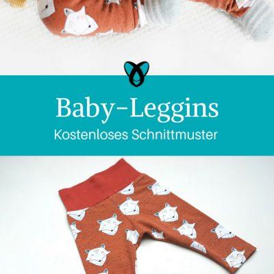 Baby-Leggins Nähen für Babies Geschenke Nähideen Baby kostenlose Schnittmuster Gratis-Nähanleitung