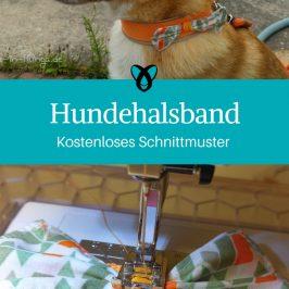 Hundehalsband mit Schleife Nähen für den Hund Nähideen Haustier kostenlose Schnittmuster Gratis-Nähanleitung