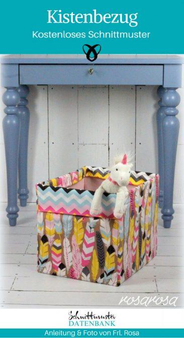 Kistenbezug Ideen fürs Kinderzimmer Nähen für Zuhause kostenlose Schnittmuster Gratis-Nähanleitung