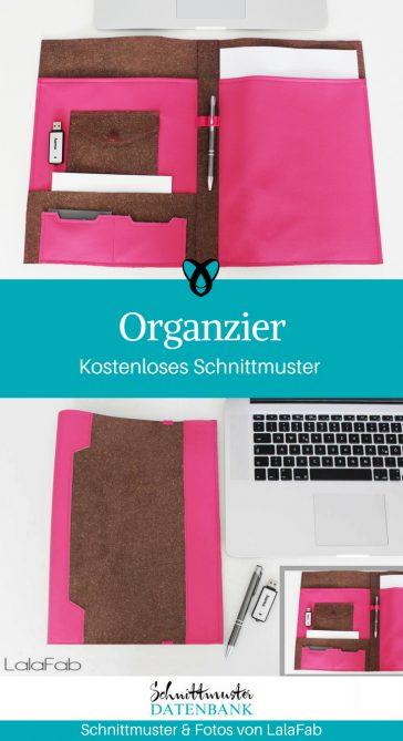 Organzier Penny Dokumentenmappe Präsentationsmappe kostenlose Schnittmuster Gratis-Nähanleitung