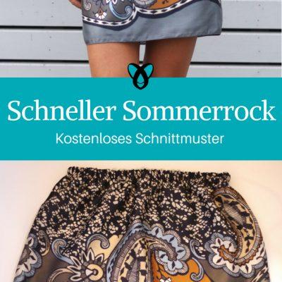 Sommerrock Minirock Damenmode Kleidung für Damen kostenlose Schnittmuster Gratis-Nähanleitung