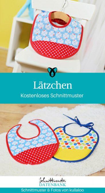 Lätzchen Babylatz Nähen für Babies Erstausstattung Geschenke zur Geburt kostenlose Schnittmuster Gratis-Nähanleitung