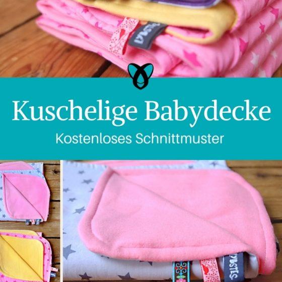 Babydecke decke babys naehen gratis schnittmuster