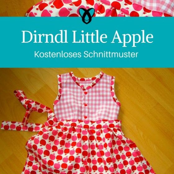 Dirndl Kinder mit Schüueze Maedchen Kleid Oktoberfest Wiesn naehen gratis schnittmuster