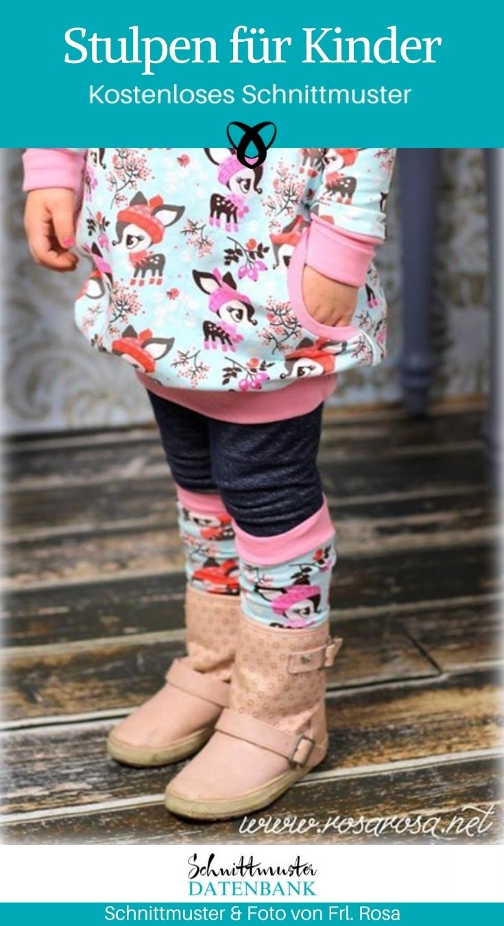 Stulpen für Kinder Stulpenliebe Winter Herbst naehen gratis schnittmuster