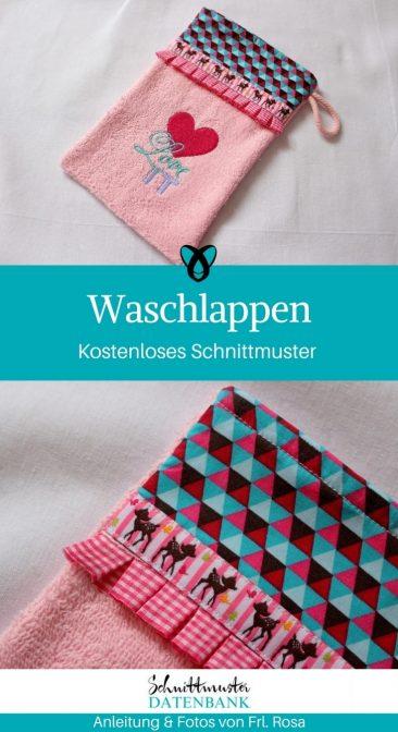 Waschlappen besticken pimpen upycling naehen gratis schnittmuster datenbank kostenlos pdf freebie naehidee