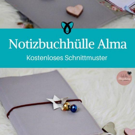 Notizbuchhülle nähen kostenloses Schnittmuster gratis Download Kalender selber machen Leder elegant Geschenkidee Weihnachten Freundin Mutter