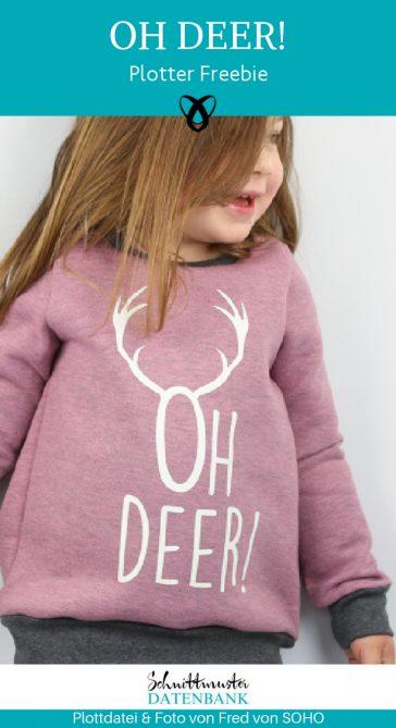Plotter Freebie kostenlose Plottervorlage Plottdatei Weihnachten oh deer weihnachtlich