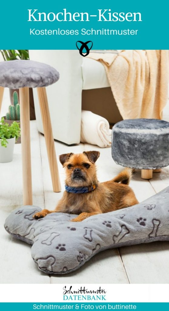 Knochen Kissen für Hunde naehen