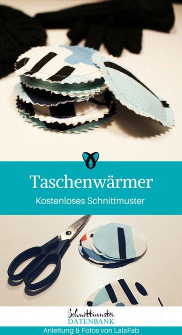Taschenwärmer nähen gratis Anleitung Nähidee Kleinigkeit schnell einfach für Anfänger Nähanfänger Idee Winter Stoffreste