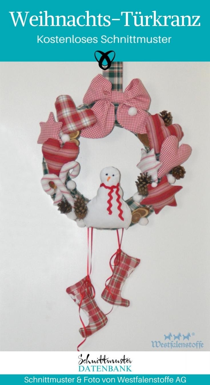 Weihnachtskranz naehen Tuerkranz