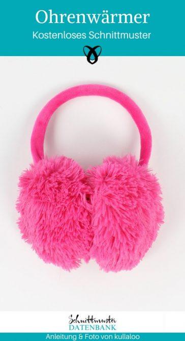 Ohrenwärmer Ohrenschützer Winter kalte Ohren witzig nähen kostenloses Schnittmuster gratis Nähanleitung Freebie Nähidee Geschenkidee