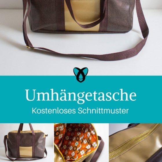 Umhängetasche Tasche für Männer Unisex nähen Schnittmuster kostenlos gratis Anleitung Idee Nähidee Geschenk Geschenkidee Freebie Freebook