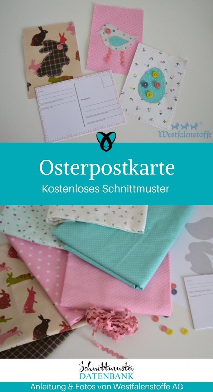 Osterpostkarte Ostern Osterdeko nähen Schnittmuster kostenlos gratis Osterideen Dekoideen Anleitung Idee Nähidee Freebie Freebook