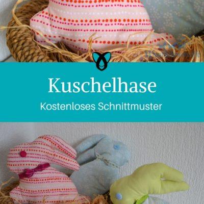Kuschelhase Hase Kuscheltier Ostern Osterdeko nähen Schnittmuster kostenlos gratis Osterideen Dekoideen Anleitung Idee Nähidee Freebie Freebook