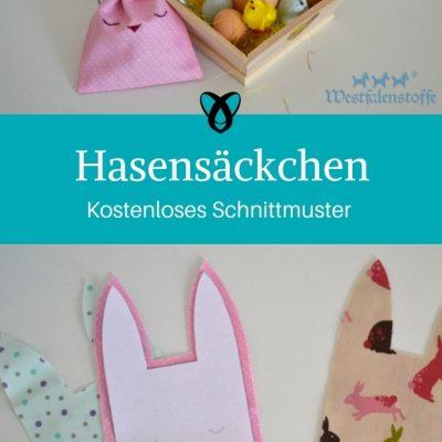 Hasensäckchen Ostern Osterdeko nähen Schnittmuster kostenlos gratis Osterideen Dekoideen Anleitung Idee Nähidee Freebie Freebook
