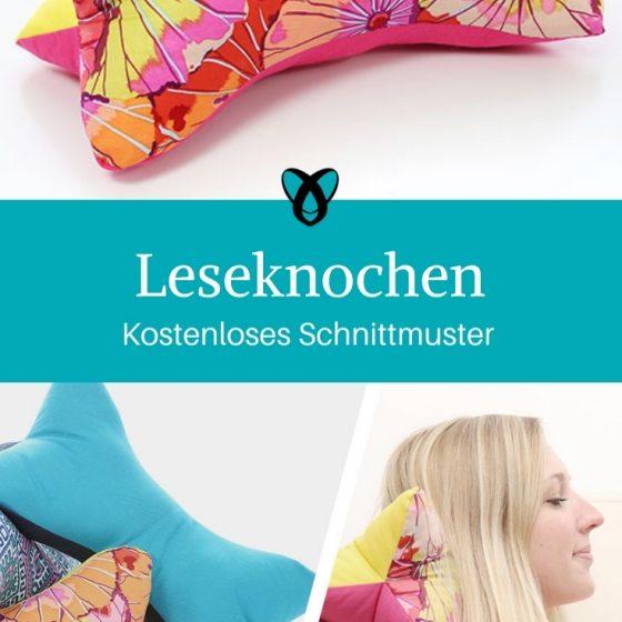 Leseknochen nähen gratis Schnittmuster kostenlose Anleitung Idee Nähidee Geschenk Geschenkidee Freebie Freebook Lesekissen