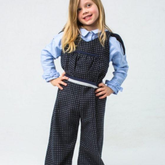 Jumpsuit für Kinder Mädchen nähen Schnittmuster kostenlos gratis Anleitung Idee Nähidee Geschenk Geschenkidee Freebie Freebook