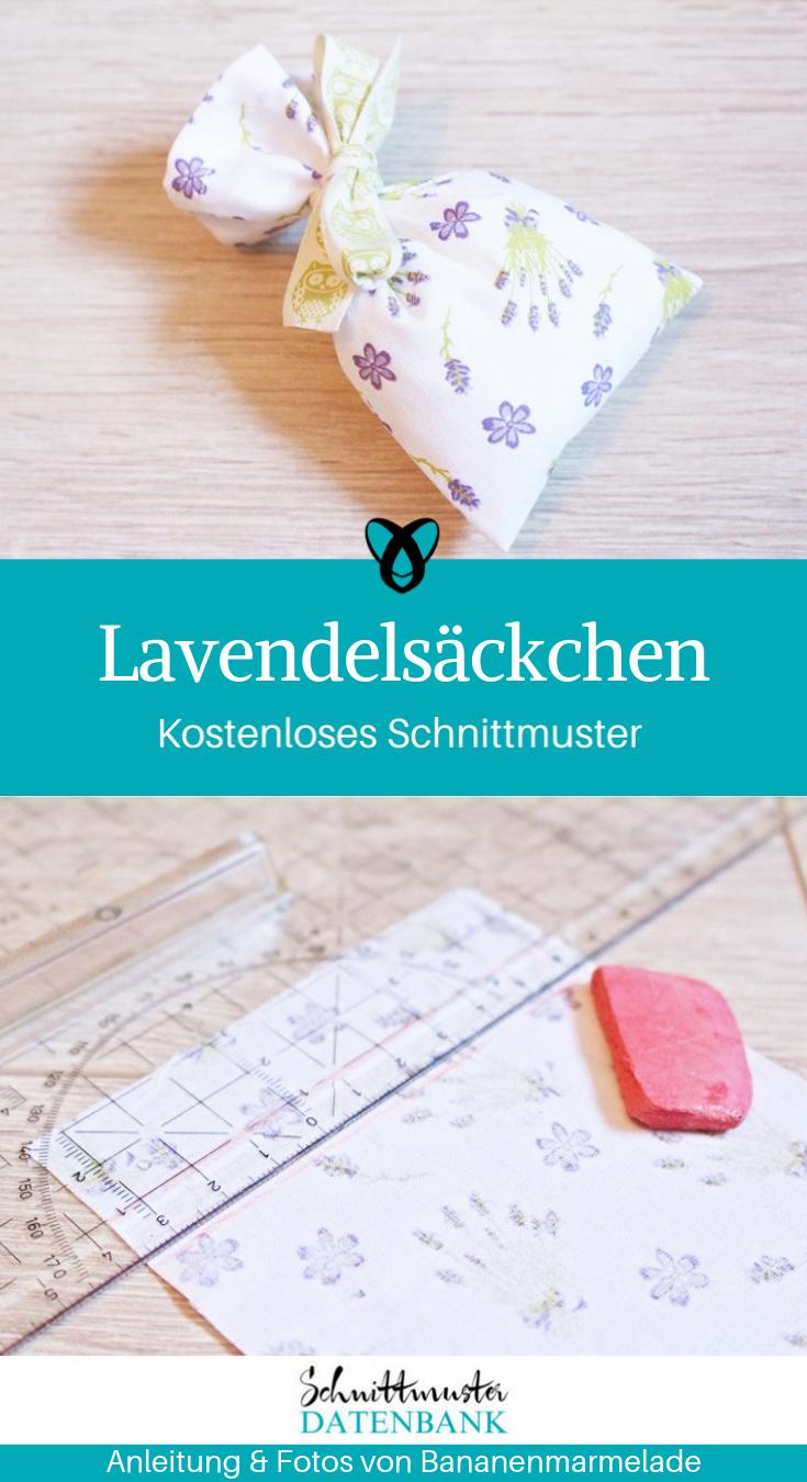 Lavendelsackchen Schnittmuster Datenbank
