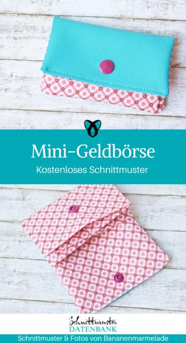 Mini-Geldbörse kleiner Geldbeutel Euti kleine Tasche kostenloses Schnittmuster Gratis-Nähanleitung