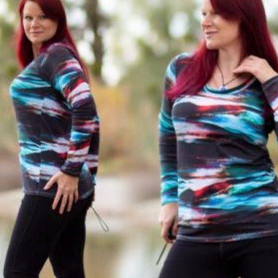 T-Shirt Oberteil Damen Frauen kostenlos gratis Schnittmuster nähen große Größen XXL Basicshirt Freebook Freebie