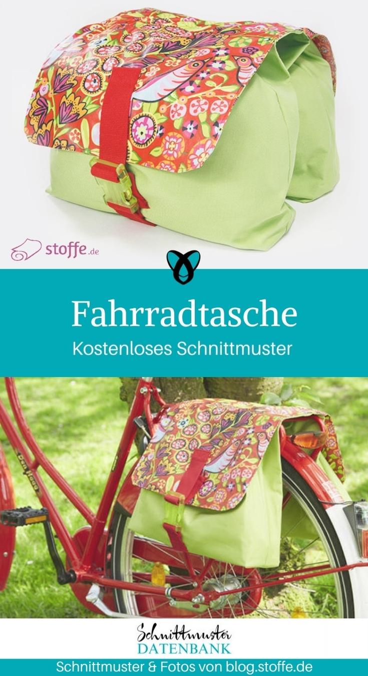 Fahrradtasche nähen gratis Schnittmuster kostenlos Anleitung Idee Nähidee Geschenk Geschenkidee Freebie Freebook Tasche für Fahrrad Rad