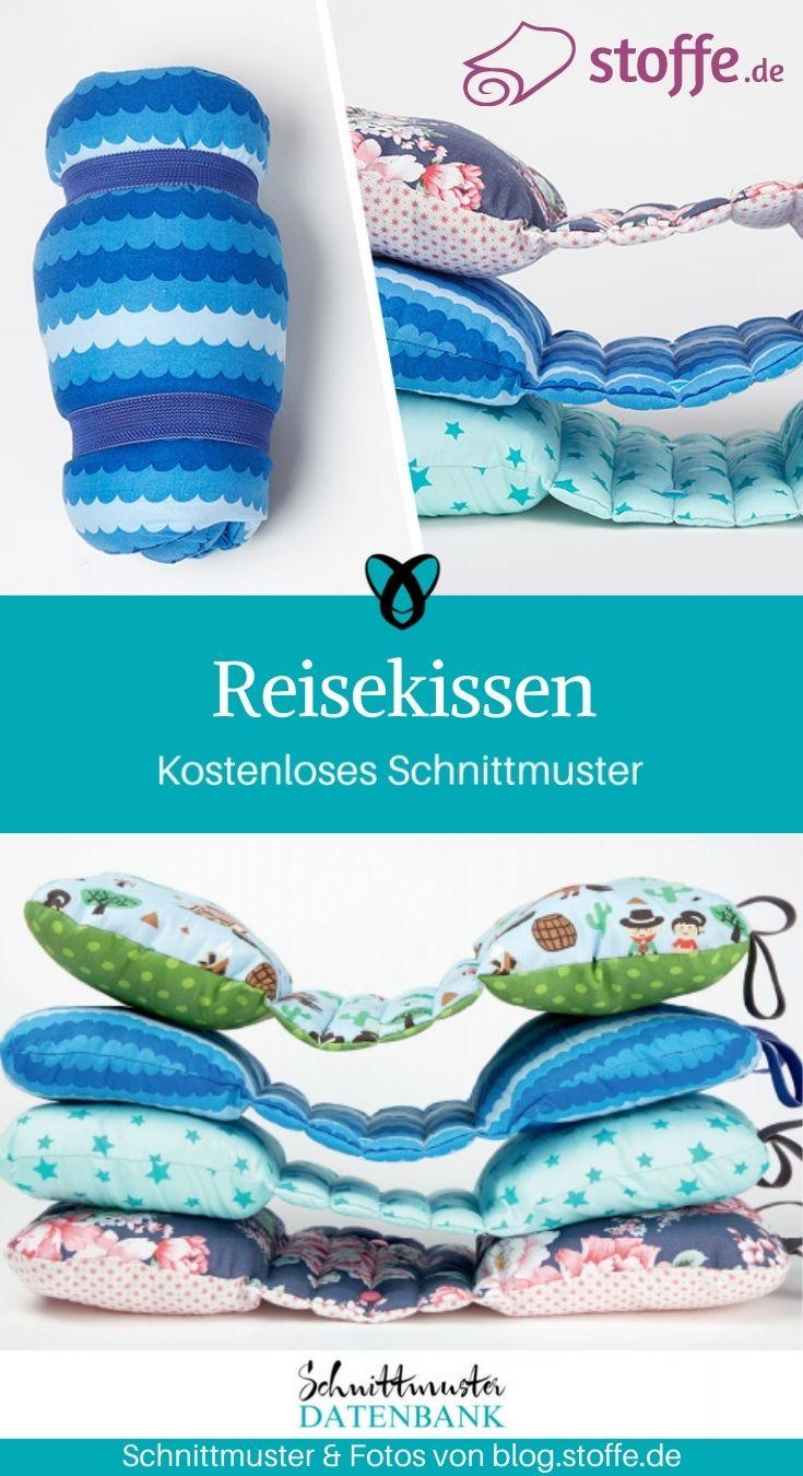 Reisekissen nähen gratis Schnittmuster kostenlos Anleitung Idee Nähidee Geschenk Geschenkidee Freebie Freebook