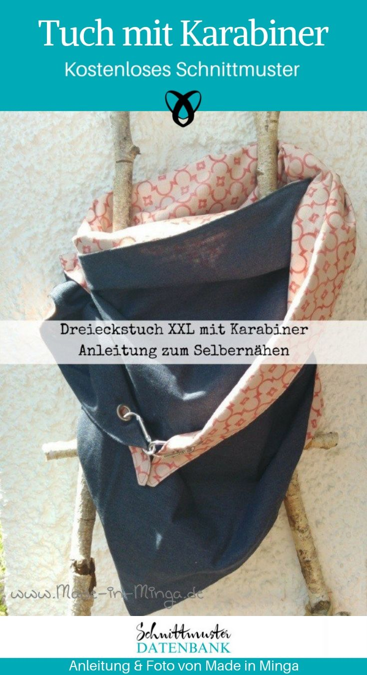 Dreieckstuch XXL Tuch Schal Accessoires kostenlose Schnittmuster Gratis-Nähanleitung