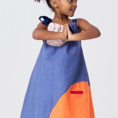 Einfaches-Kinderkleid-Nähen-für-Kinder-kostenloses-Schnittmuster-Gratis-Nähanleitung