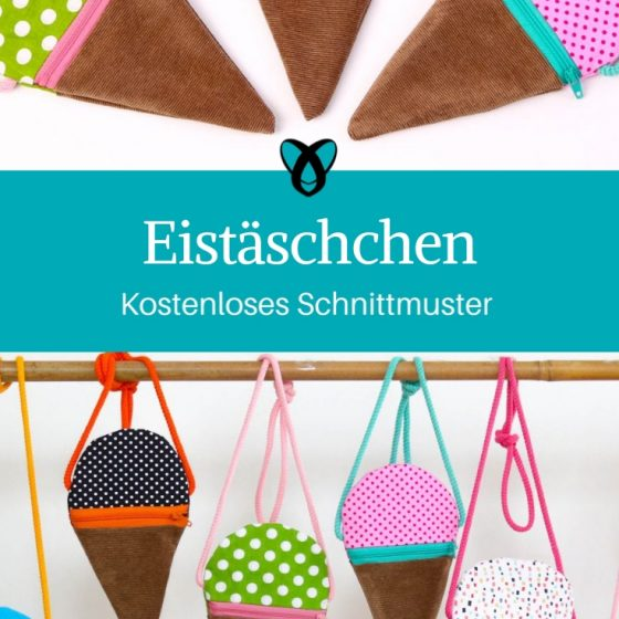 Eistäschen kleine Tasche Tasche für Kinder kostenlose Schnittmuster Gratis-Nähanleitung