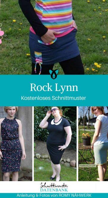 Rock Lynn Pencilskirt Damenrock Jerseyrock Damenbekleidung kostenlose Schnittmuster Gratis-Nähanleitung