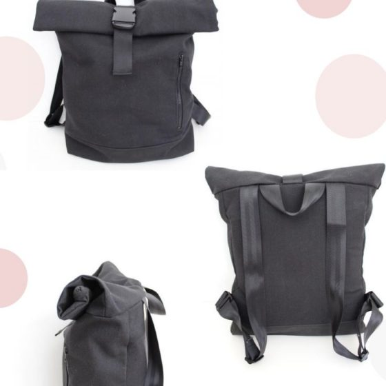 Rolltop Rucksack Backpack Tasche kostenlose Schnittmuster Gratis-Nähanleitung